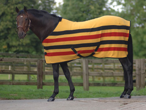 Elegant MASTA ASCOT STRIPE SUEDE FLEECE RUG This Traditional Striped Suede Fleece  Rug Has Low Cross Surcingles, Wither Pad, Anti Rub Satin Chest Lining, ...
